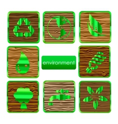environmental nature and eco sign set vector image