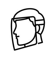 face-shield vector image