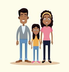 family african american together vector image