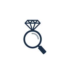 Find diamond logo icon design vector