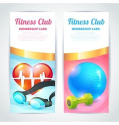 Fitness club card design vector