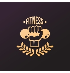 Fitness Emblems Set vector image