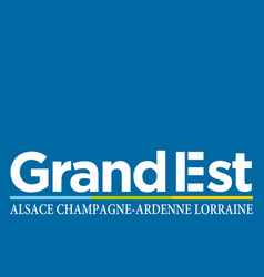 Flag of grand est is a french administrative vector