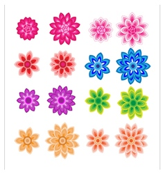 Flower petals overlapping colorful vector