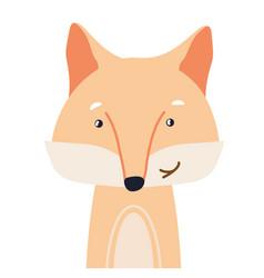 Fox cute animal baby face vector