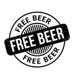 free beer rubber stamp vector image