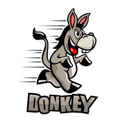 funny donkey mascot vector image