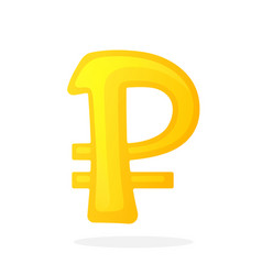 Golden sign ruble vector