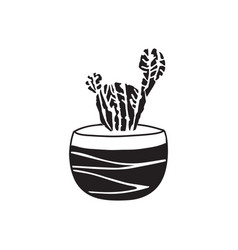 Hand drawn cactus cute for card and cover vector