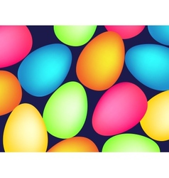 Happy easter pattern with eggs vector image