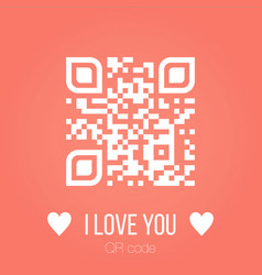 i love you qr code on pink background can be used vector image
