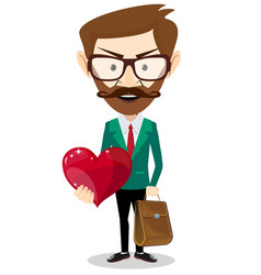 icon for person with big heart - concept vector image