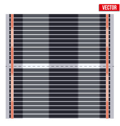 infrared floor heating system vector image