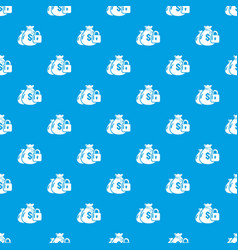 insurance money pattern seamless blue vector image