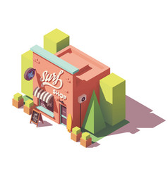 isometric surf shop vector image