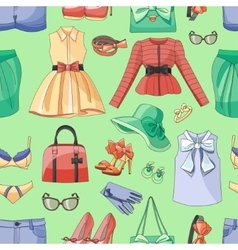 ladies clothing and accessories pattern vector image