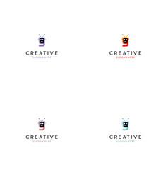 letter y bot technology creative logo vector image