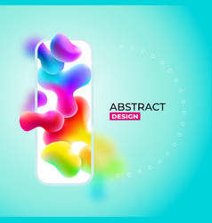 liquid color abstract background design fluid vector image
