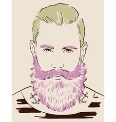 Man face hand drawn vector