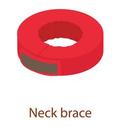 neck brace icon isometric 3d style vector image