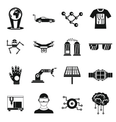 New technologies icons set simple style vector