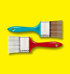 paint bristle brush set vector image