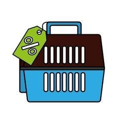 Pet carrier box isolated icon vector