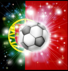 Portugal soccer flag vector