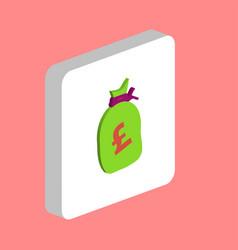 pound gbp bag computer symbol vector image