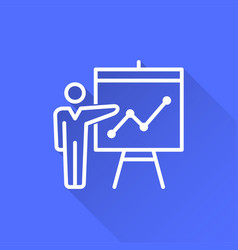 presentation - icon for graphic and web vector image