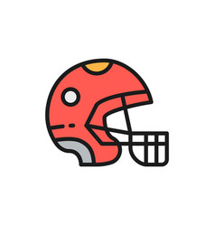 protective sport helmet game equipment flat color vector image
