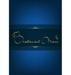 Restaurant menu blue vector