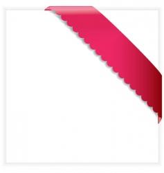 ribbon frame vector image
