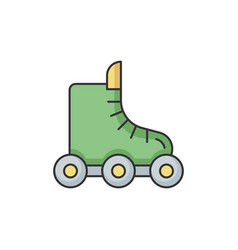 Rollerskate rgb color icon vector