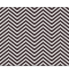 Seamless Knitting Zigzag Pattern vector image