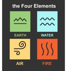 set 4 elements vector image