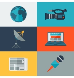 Set of journalism icons vector image