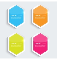Set of multicolored glowing plastic banners vector image