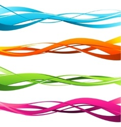 Set of wavy design elements vector image