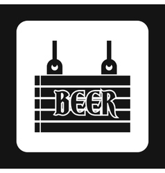 Sign beer icon simple style vector