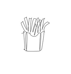 Single continuous line drawing stylized french vector