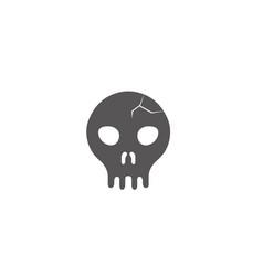 Skull human cracked human head logo vector