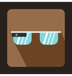 Smart glasses icon flat style vector image