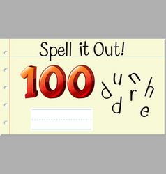 spell english word hundred vector image