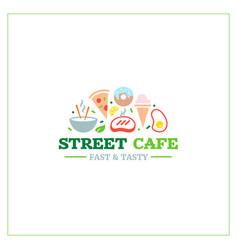 street cafe emblem 2 vector image