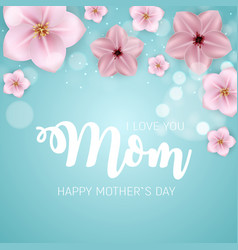 Thanks for everything mom happy mother s day cute vector