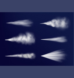 transparent vapor chemical beauty water spray vector image