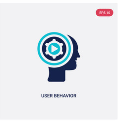 Two color user behavior icon from general concept vector