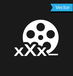 White film reel with inscription xxx icon isolated vector