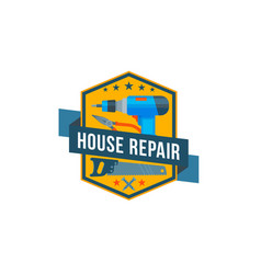 Work tools icon of home repair construction vector
